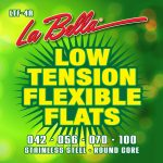 Corde lisce La Bella Low Tension Flexible Flats, Stainless Steel, .042 – .100 LTF-4A